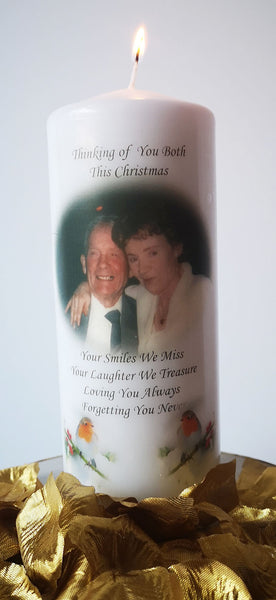 Christmas Memorial Candle
