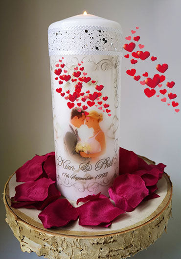 Valentines Day Personalised Candle