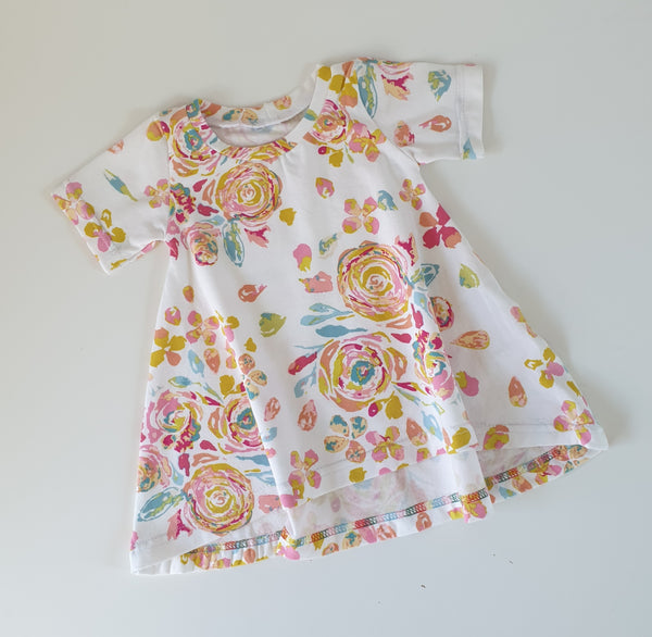 0-3 months Tshirt Dress - Floral