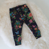 6-9 months Leggings - Navy Floral