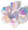 Shimmering Coral - 7 piece dice set