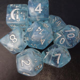 Cozy Gamer - Glacial Ice 8 Piece Dice Set