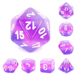 Purple Translucent Layer - 7 piece dice set
