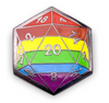 D20 Pride Flag Pin