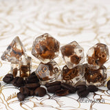 Cozy Gamer - Coffee Bean 8 Piece Dice Set