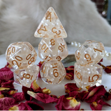 Cozy Gamer - White Pearl Dice Set