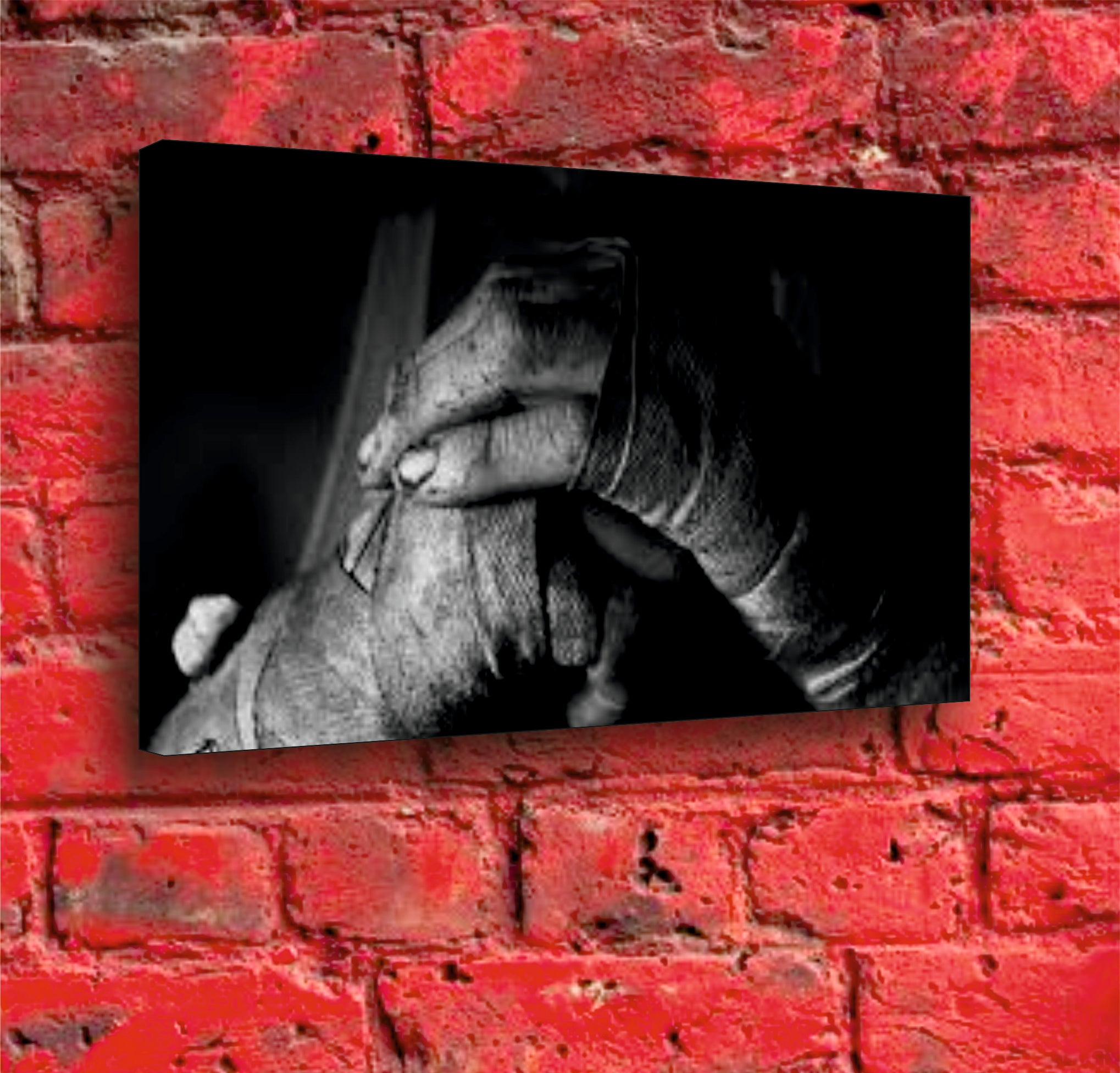 Fighting Fists Canvas - A3 Boxed Canvas Print