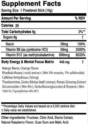 Clean Energy - Orange Mango Performance® (15 Pack) - MindFx