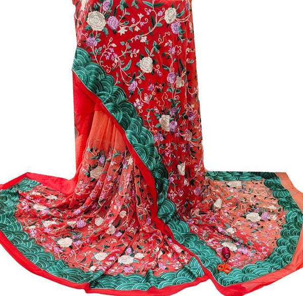 How to drape a Parsi Gara Saree - Luxurionworld - Luxurionworld