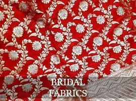 Red & Golden Bridal Fabric