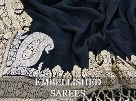 Sarees with embellishments