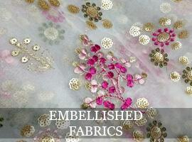 Fabric with embellishments
