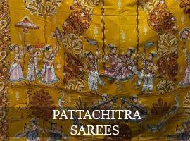 Hand Painted Pattachitra Sarees