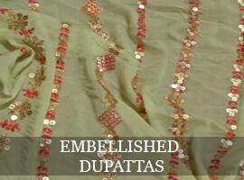Dupatta with embellishments