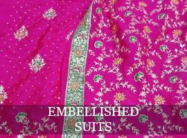 Women suit with embellishments