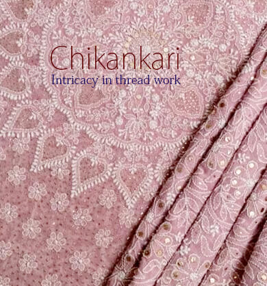 Chikankari Saree with fine work & design