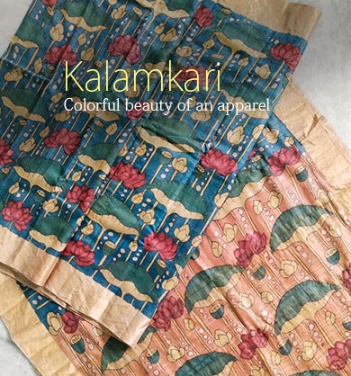 Hand Painted Kalamkari Saree