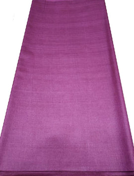 Purple  Bhagalpur Tussar Silk Fabric  (2.5 Mtr ) - Luxurionworld