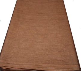 Brown  Bhagalpur Tussar Silk Fabric  (2.5 Mtr ) - Luxurionworld
