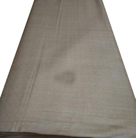 Grey  Bhagalpur Tussar Silk Fabric  (2.5 Mtr ) - Luxurionworld