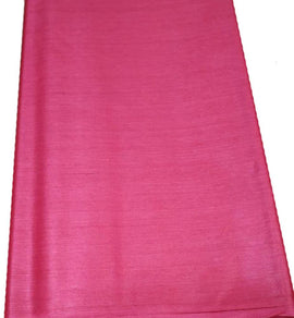 Pink  Bhagalpur Tussar Silk Fabric  (2.5 Mtr ) - Luxurionworld