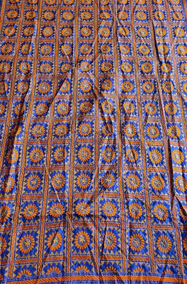 Multicolor  Hand Embroidered Kantha Pure Silk Dupatta