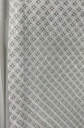 Grey Embroidered Chikankari Georgette Fabric ( 1 Mtr )