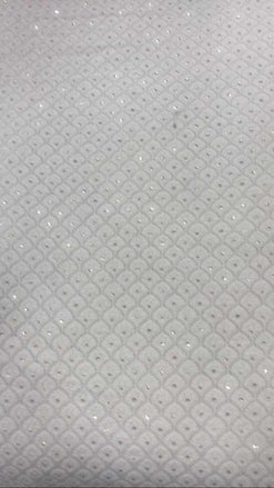 Dyeable Chikankari Pure Georgette Fabric ( 1 Mtr )