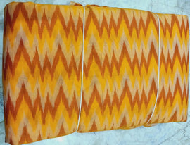 Multicolor Handloom Ikat Silk Cotton Fabric (2.5 mtrs) - Luxurionworld