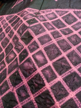 Pink Shibori Mulberry Silk Fabric (2.5 mtr) - Luxurionworld