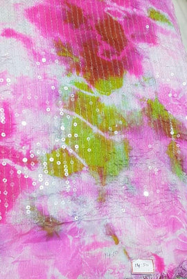 Multicolor Trendy Shibori Fabric ( 1 Mtr ) - Luxurionworld