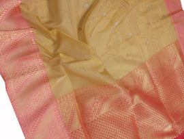 Yellow Handloom Banarasi Tissue Silk Sona Roopa Saree