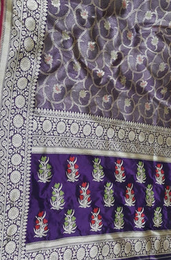 Purple_Handloom_Banarasi_Pure_Katan_Silk_Meenakari_Saree