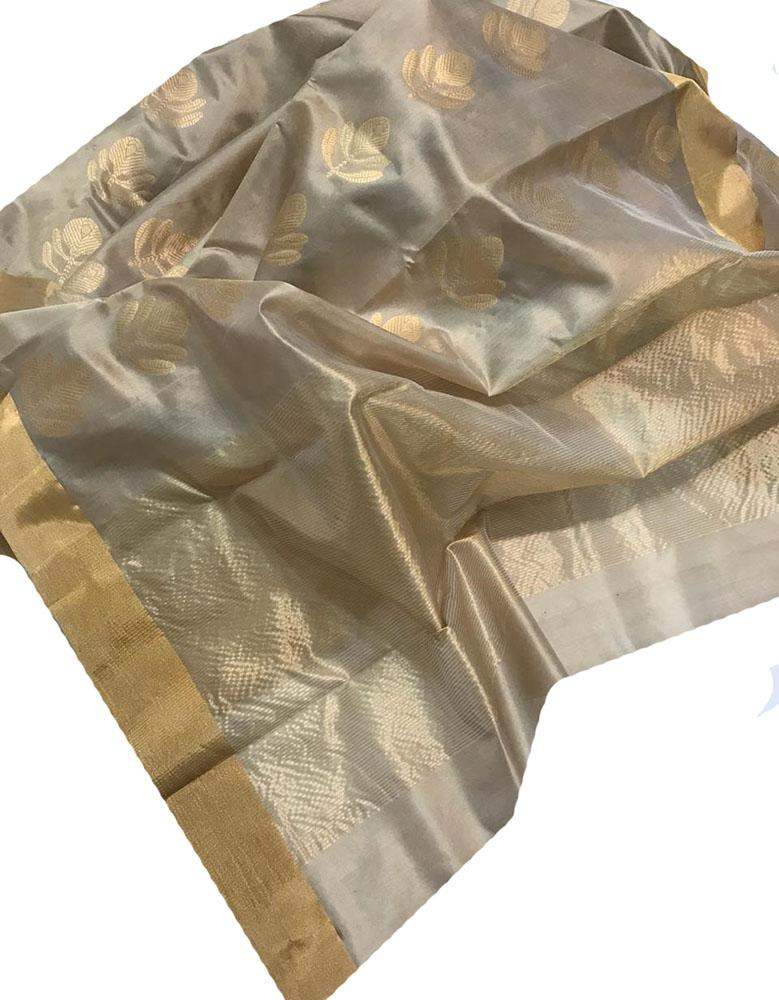 Pastel  Handloom Chanderi Pure Katan Silk Saree