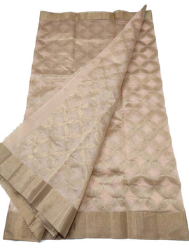 Pastel Handloom Chanderi Pure Silk Saree