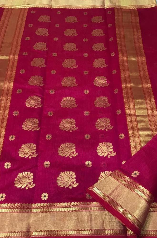 Red_Handloom_Chanderi_Silk_Cotton_Saree