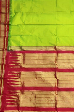 Green_Handloom_Ilkal_Pure_Silk_Plain_Saree
