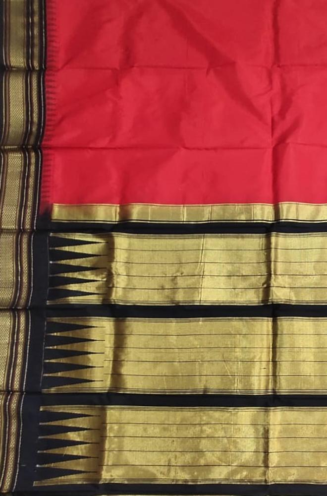 Red_Handloom_Ilkal_Pure_Silk_Plain_Saree