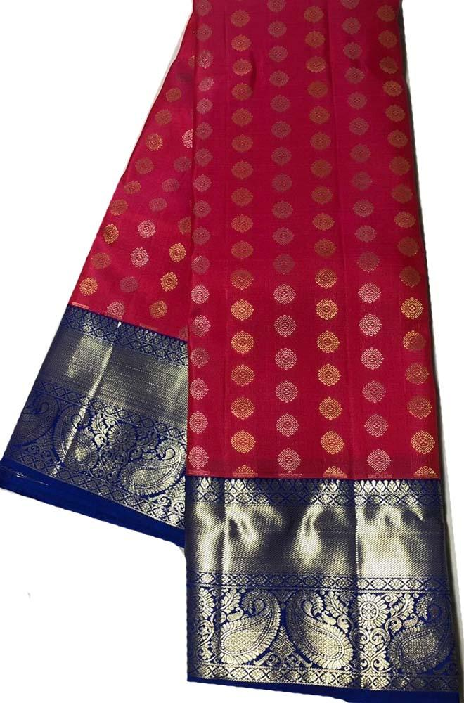 Red  Handloom Kanjeevaram Pure Silk Saree