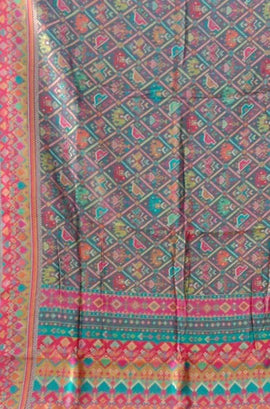 Multicolor  Kashmiri Kani Work Pure Silk Saree