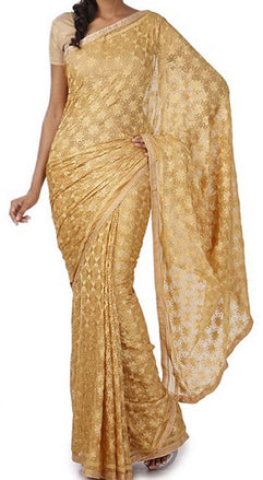 Pastel_Embroidered_Phulkari_Chinon_Saree