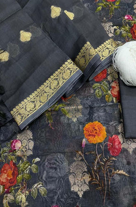 Black_Handloom_Banarasi_Chanderi_Silk_Three_Piece_Unstitched_Suitset