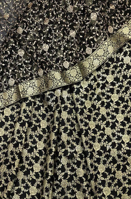 Black_Banarasi_Kim_Khwab_Silk_Threee_Piece_Unstitched_Suitset