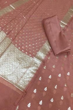 Orange_Banarasi_Chanderi_Silk_3_Piece_Unstitched_Suitset