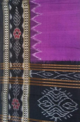 Purple Handloom Sambalpuri Cotton Dupatta - Luxurionworld