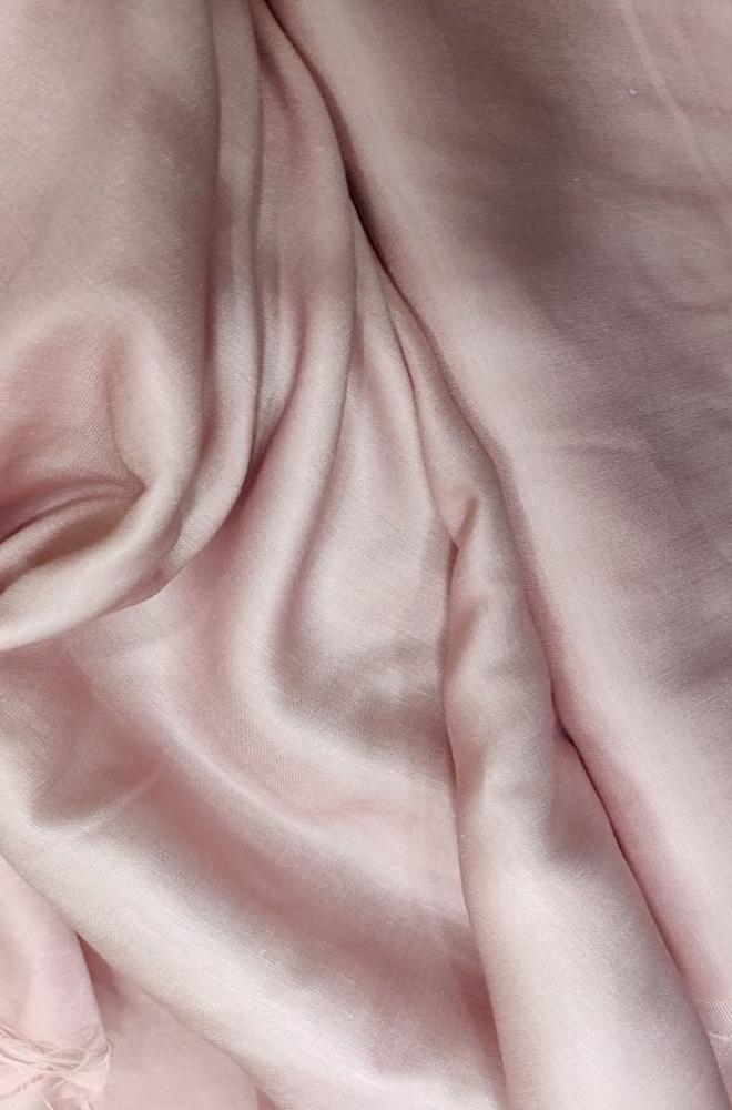 Pink Plain Silk Fabric - Luxurionworld