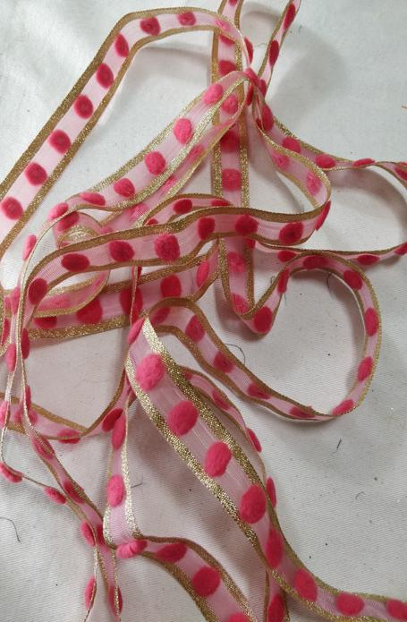 Pink Net Work Lace (9 mtrs)
