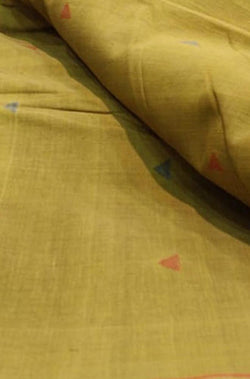 Yellow Pure Khaadi Cotton Fabric (2.5 mtrs)