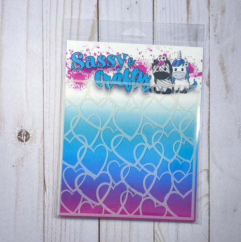 Hearts Stencil - Sassy and Crafty