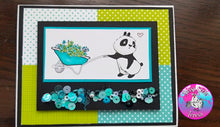 Load image into Gallery viewer, Panda-monium 4x8 Stamp Set